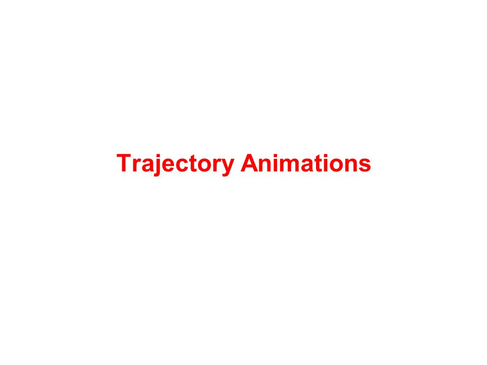 Trajectory Animations