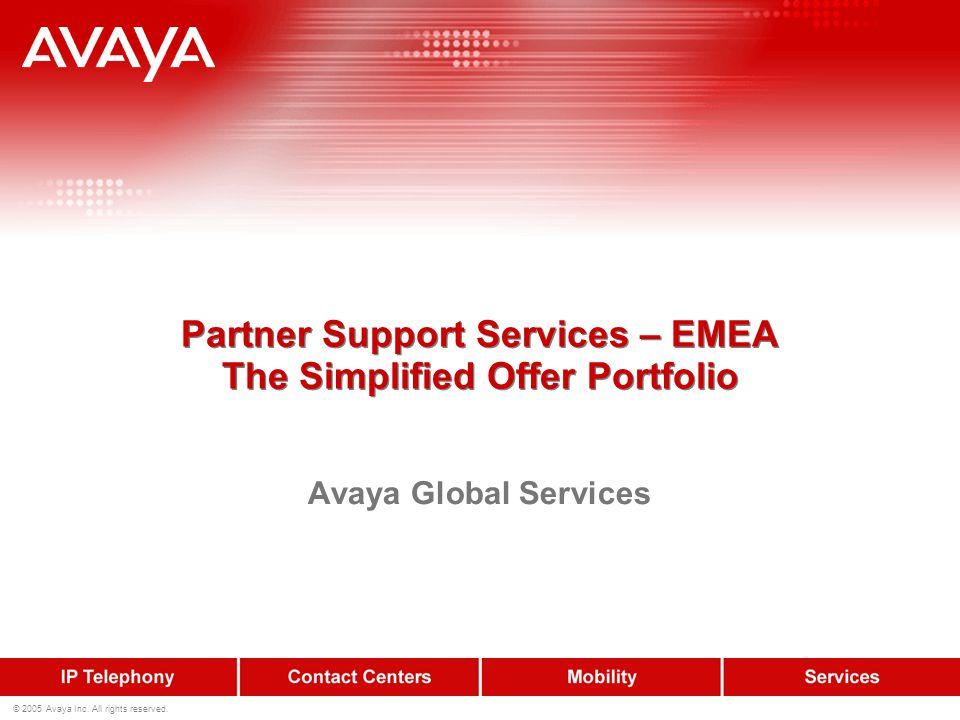 12 © 2005 Avaya Inc.All rights reserved. Key Benefits: 1.