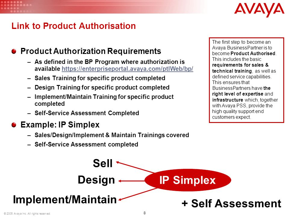 © 2005 Avaya Inc.All rights reserved.