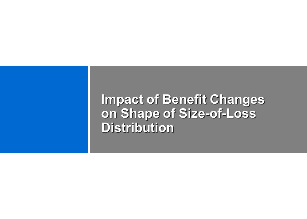 Impact of Benefit Changes on Shape of Size-of-Loss Distribution