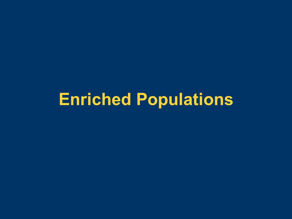 Enriched Populations