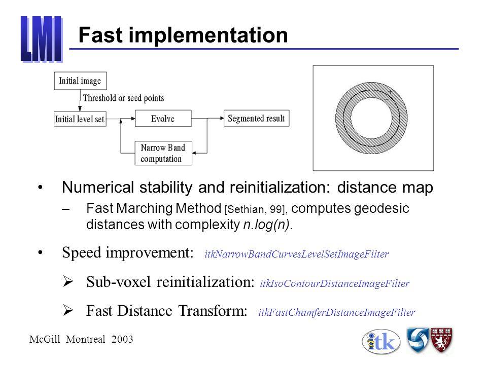 McGill Montreal 2003 Methodology –Properties: zoom invariance.