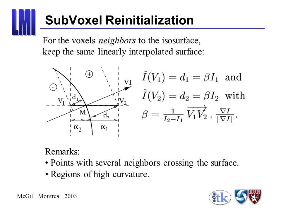 McGill Montreal 2003 Methodology Homogeneity constraint Eccentricity constraint Tubular constraints