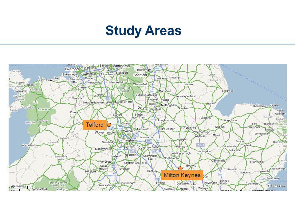 Study Areas Milton Keynes Telford