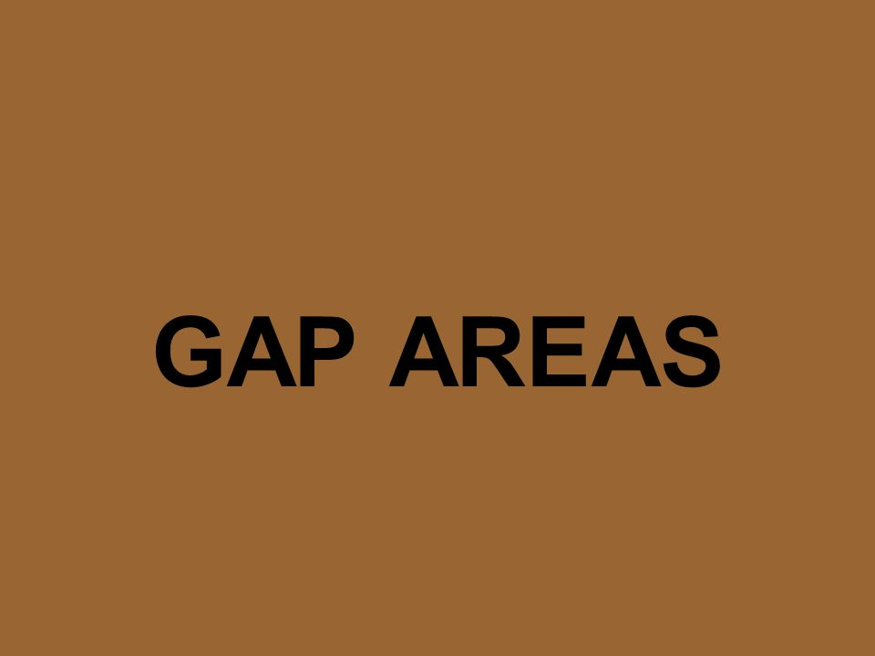 GAP AREAS