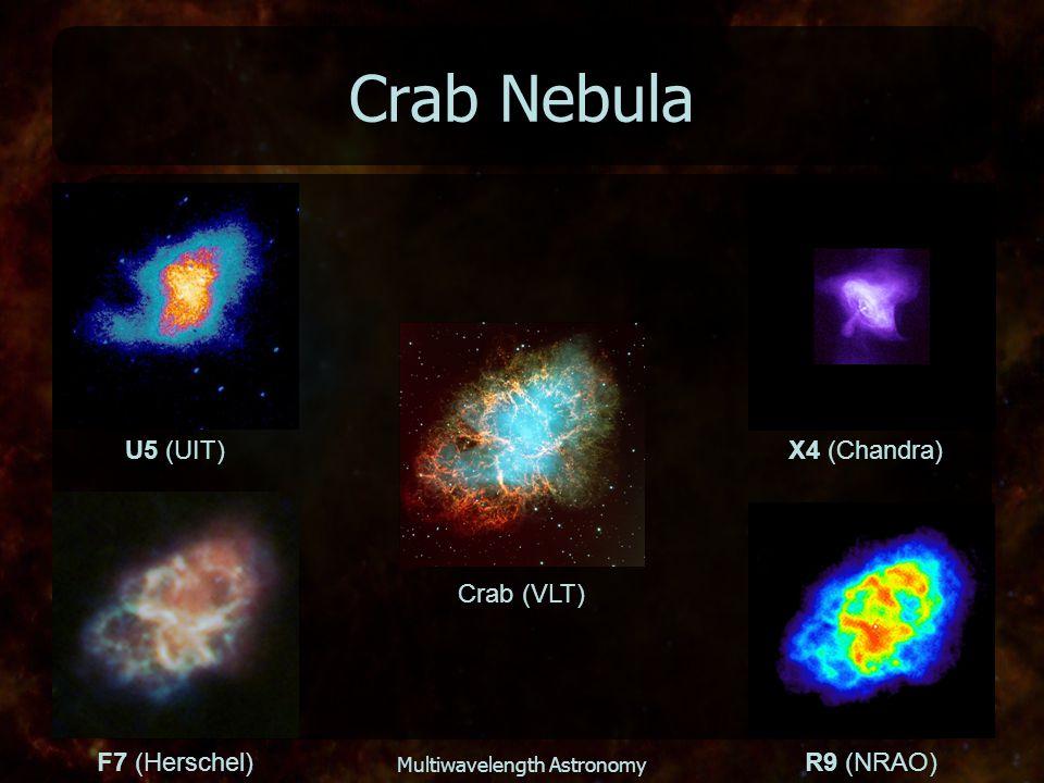 Multiwavelength Astronomy Crab Nebula Crab (VLT) U5 (UIT) X4 (Chandra) F7 (Herschel)R9 (NRAO)