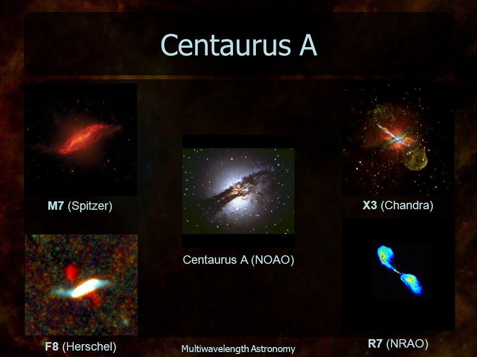 Multiwavelength Astronomy Centaurus A Centaurus A (NOAO) X3 (Chandra) F8 (Herschel) M7 (Spitzer) R7 (NRAO)