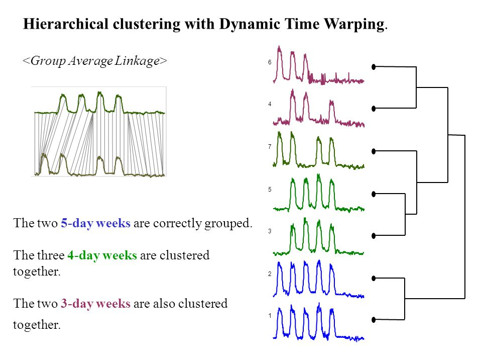 Hierarchical clustering with Dynamic Time Warping.
