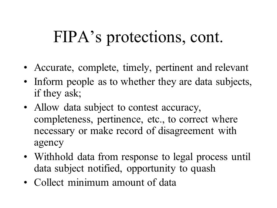 FIPA's protections, cont.