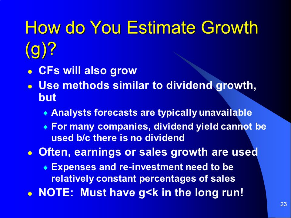 23 How do You Estimate Growth (g).