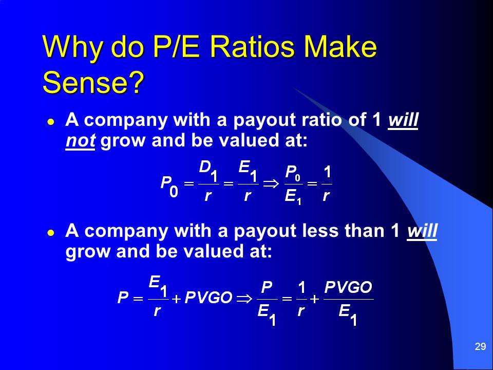 29 Why do P/E Ratios Make Sense.