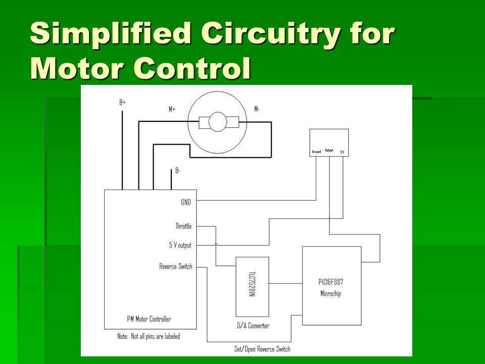 Simplified Circuitry for Motor Control