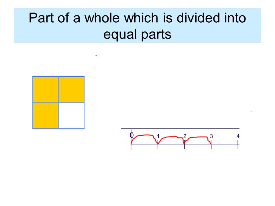 Part of a whole which is divided into equal parts