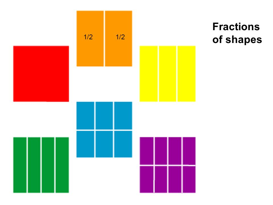 Fractions of shapes 1/2