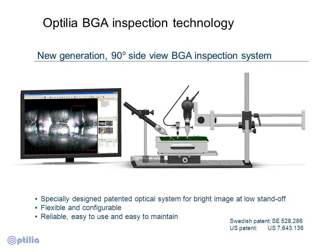 Compare Image OptiPix enables you to view and compare the live image side by side with a reference image.