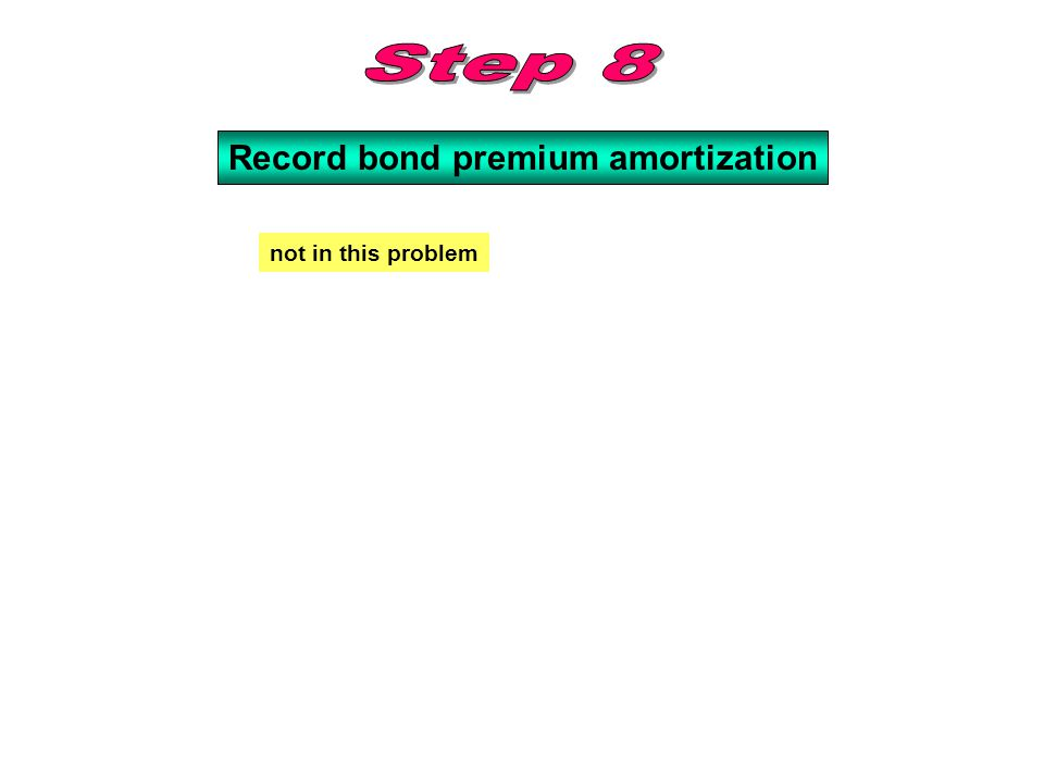Record bond premium amortization not in this problem