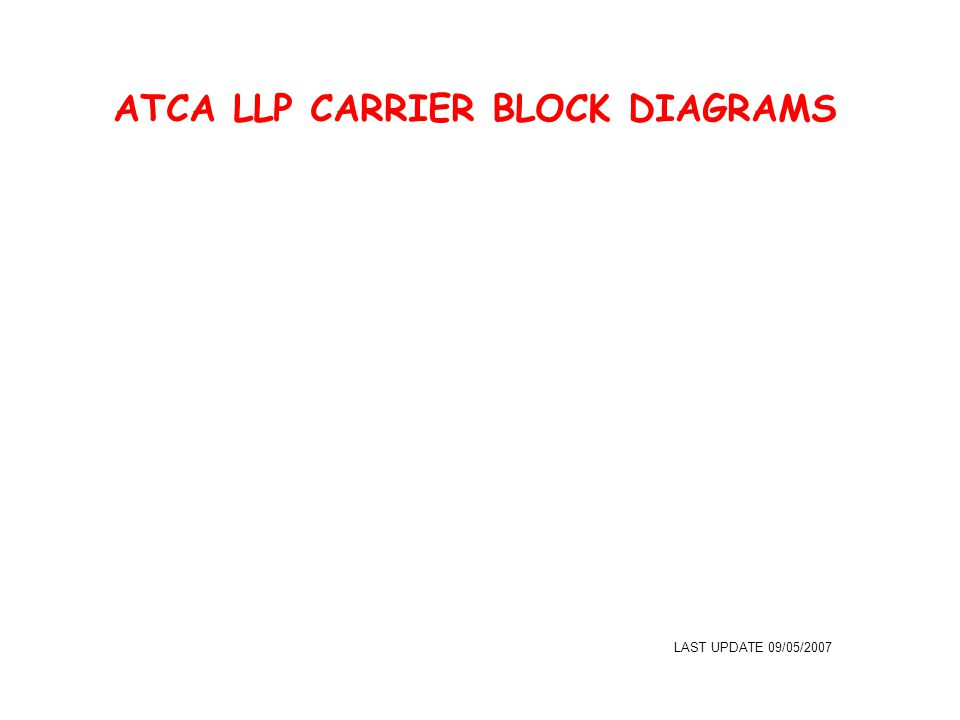 ATCA LLP CARRIER BLOCK DIAGRAMS LAST UPDATE 09/05/2007