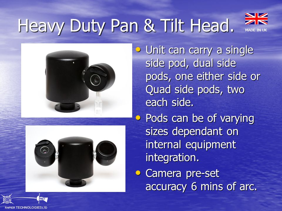Heavy Duty Pan & Tilt Head.