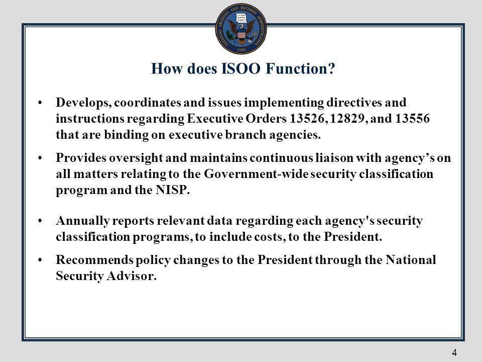 NISP POLICY RELATIONSHIPS 5 E.O.12829 NATIONAL INDUSTRIAL SECURITY PROGRAM E.O.