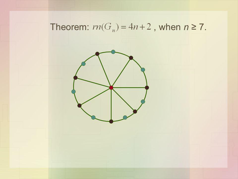 Theorem:, when n ≥ 7.