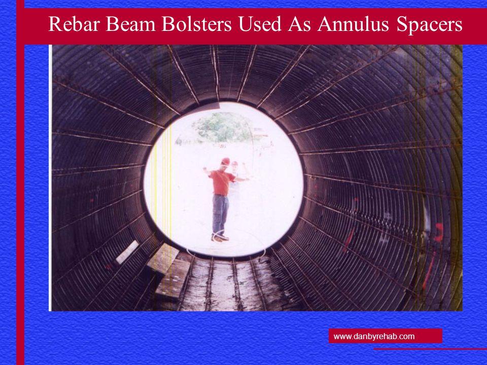 www.danbyrehab.com Rebar Beam Bolsters Used As Annulus Spacers