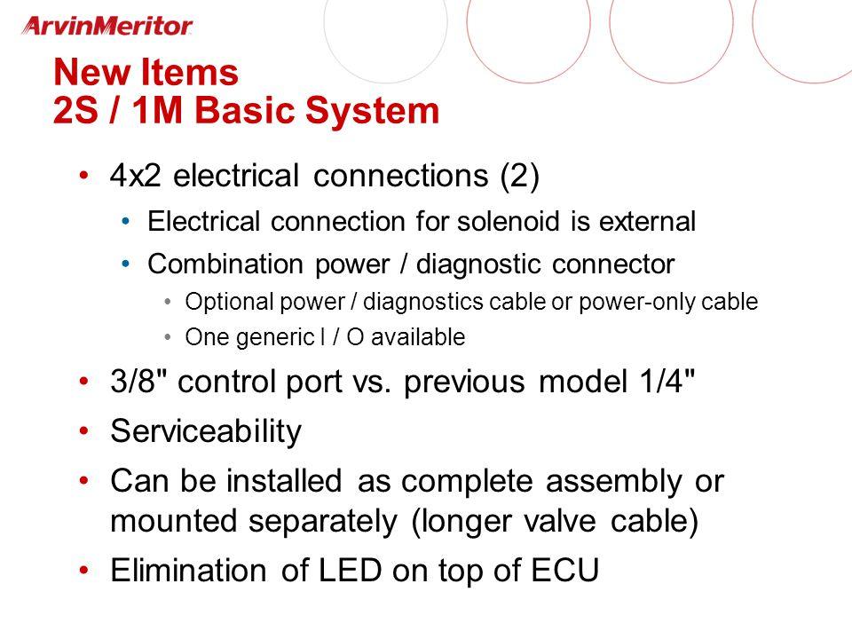 YE1 YE2 supply line air tank control line Enhanced Easy-Stop 2S / 2M Installation (Facing Forward)