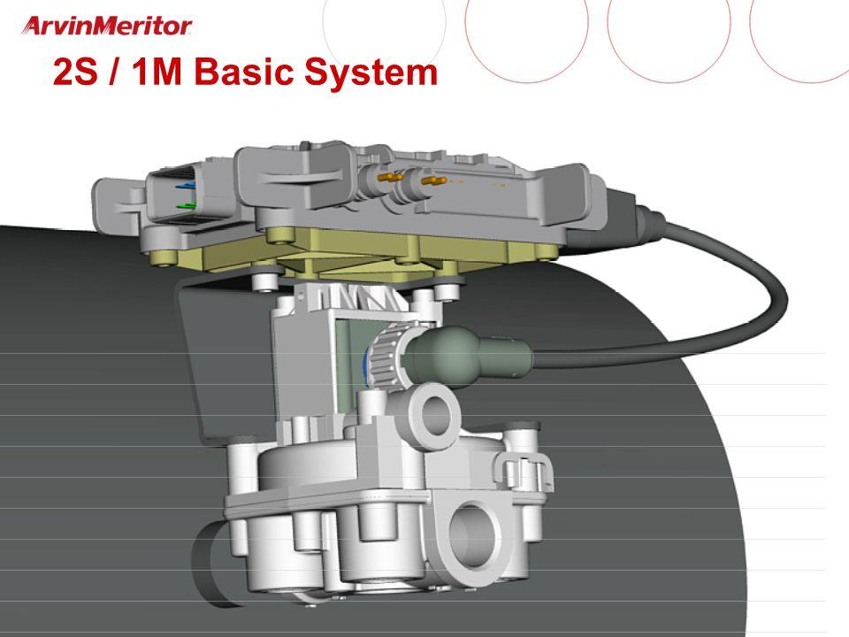 Enhanced Easy-Stop 4S / 2M Installation (Facing Forward) YE1 YE2 BU1 BU2 supply line air tank control line