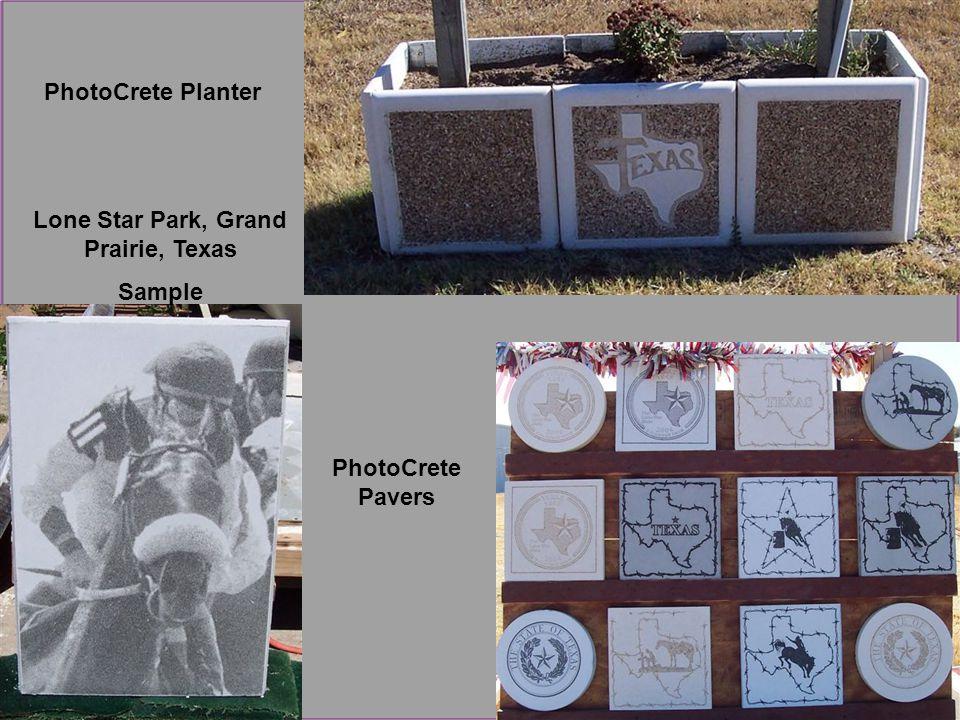 Lone Star Park, Grand Prairie, Texas Sample PhotoCrete Pavers