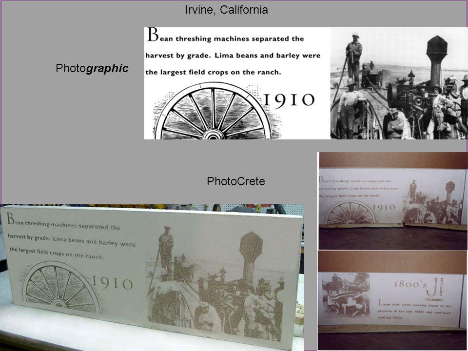 Photographic PhotoCrete Irvine, California