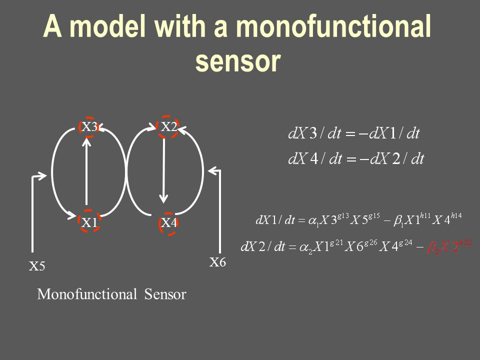 X3 X1 X2 X4 X5 X6 A model with a monofunctional sensor Monofunctional Sensor