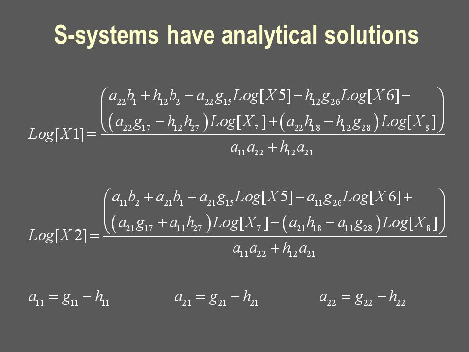 S-systems have analytical solutions