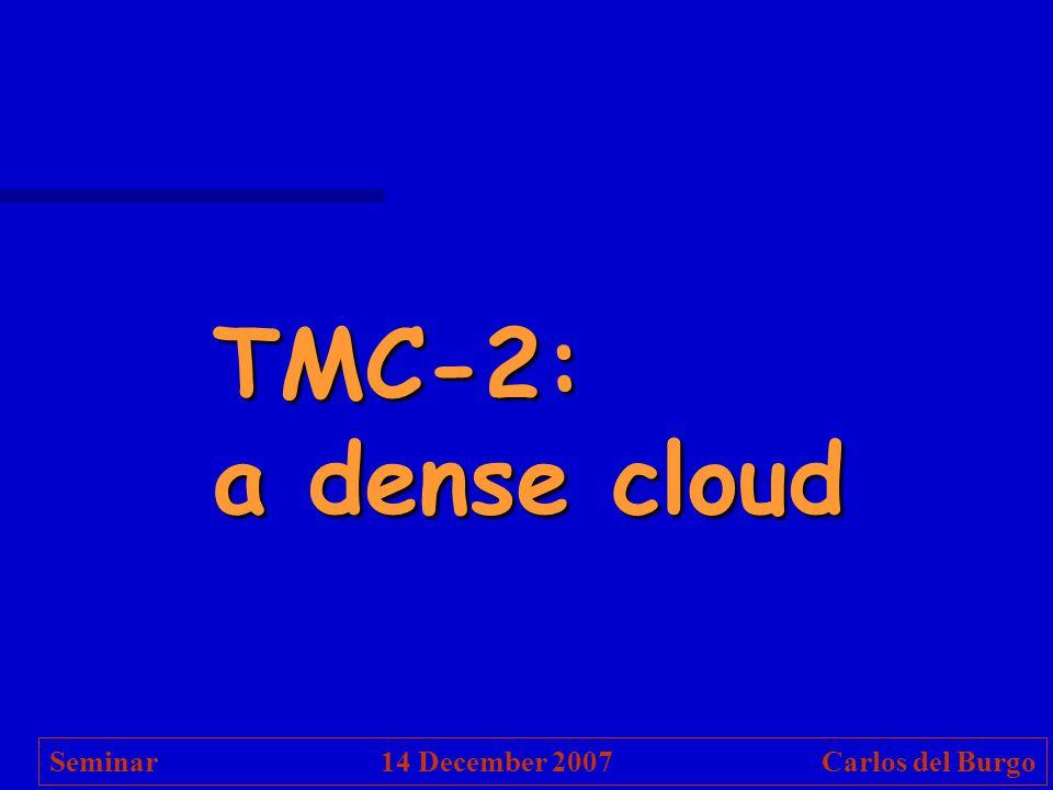 TMC-2: a dense cloud Seminar 14 December 2007 Carlos del Burgo