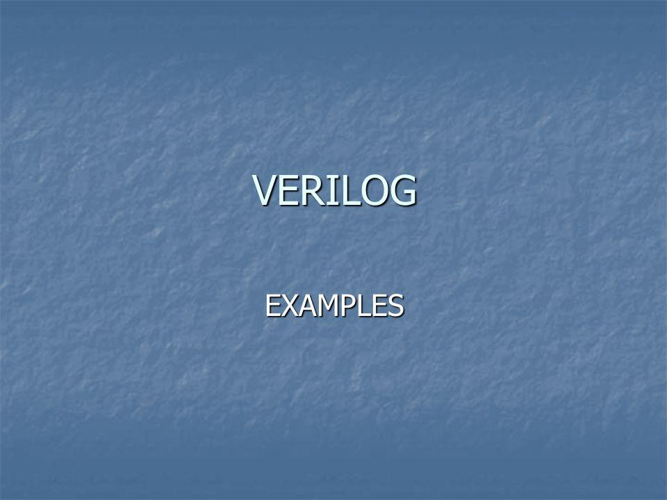 VERILOG EXAMPLES