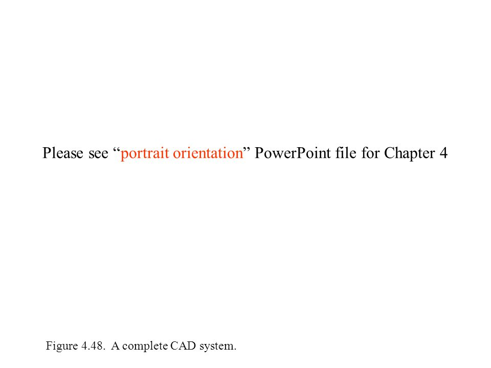 Figure 4.48. A complete CAD system. Please see portrait orientation PowerPoint file for Chapter 4