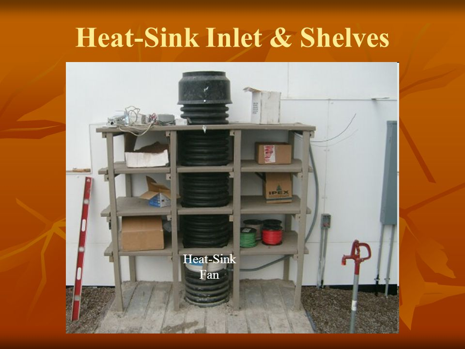 Heat-Sink Inlet & Shelves Heat-Sink Fan