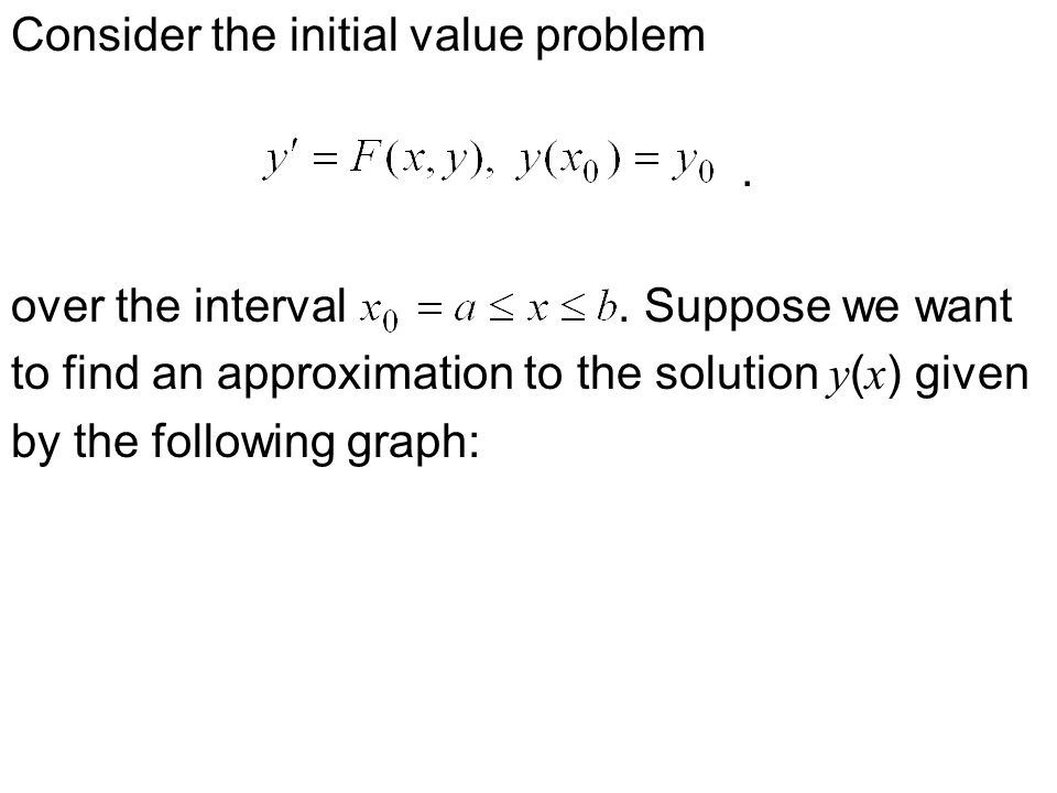 Consider the initial value problem. over the interval.