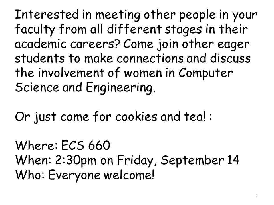 Interested in meeting other people in your faculty from all different stages in their academic careers.