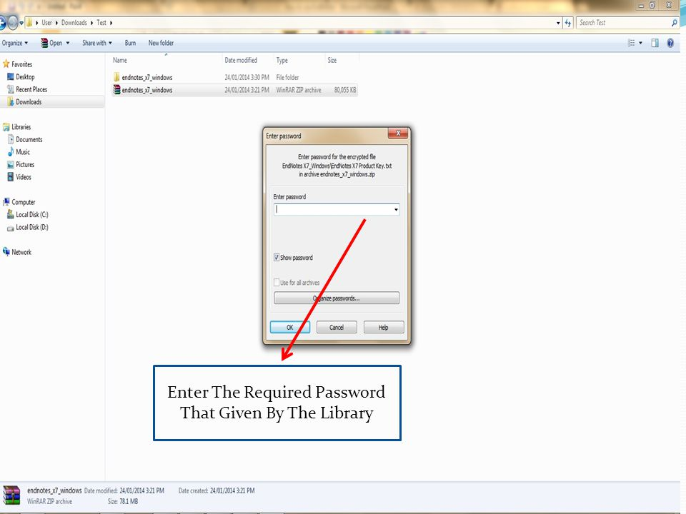 Enter The Required Password That Given By The Library