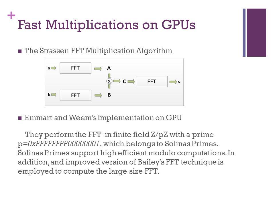 + Fast Multiplications on GPUs