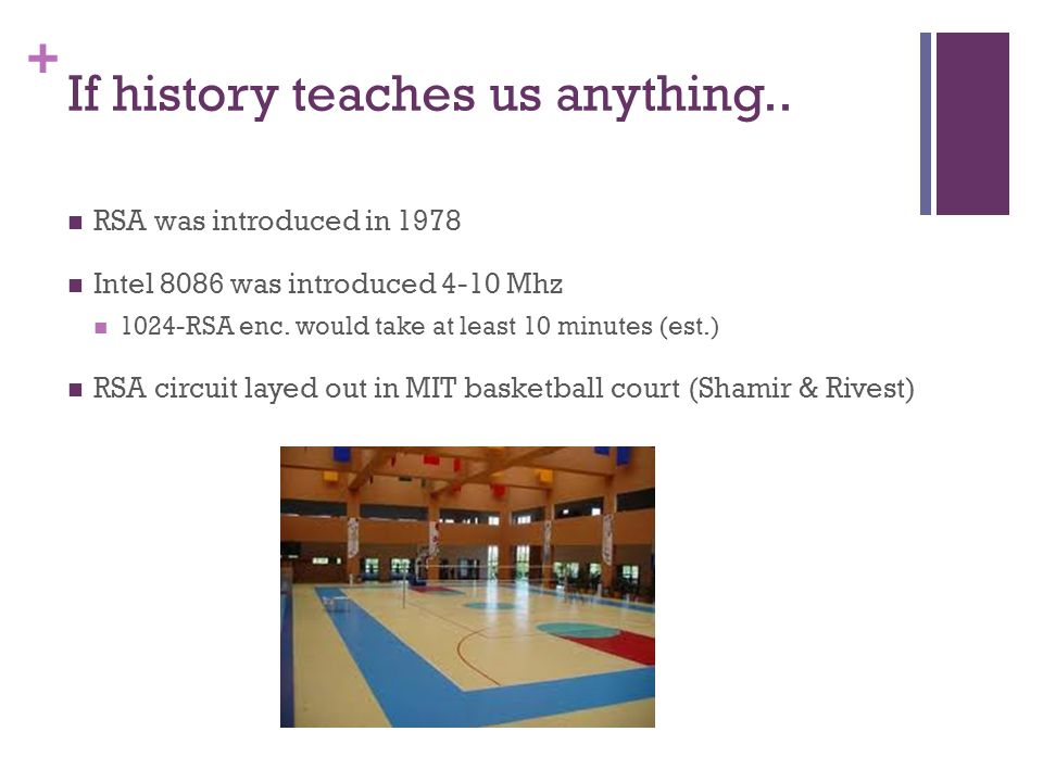 + If history teaches us anything..