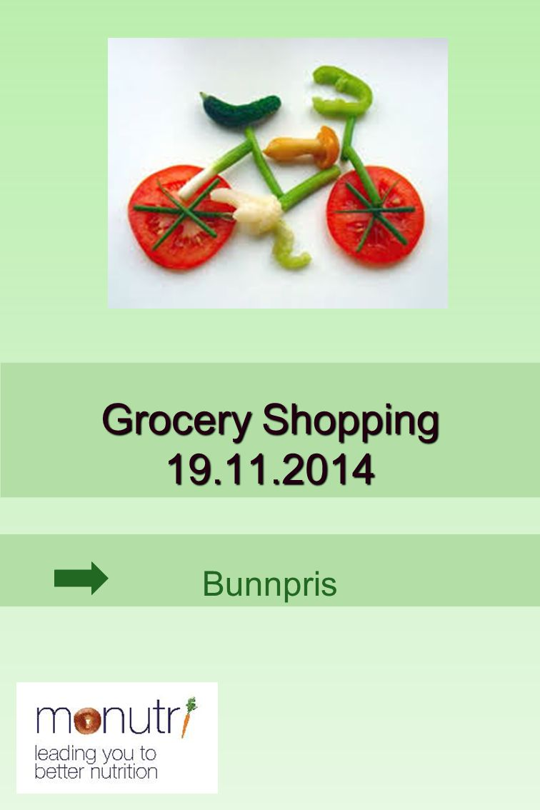 Bunnpris Grocery Shopping 19.11.2014