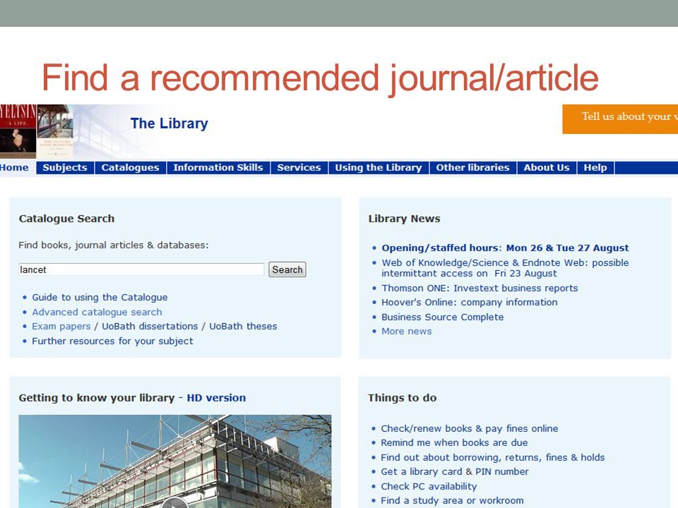 Find a recommended journal/article