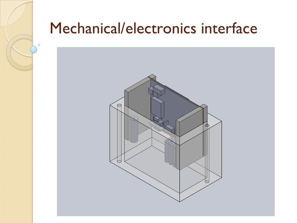 Mechanical/electronics interface