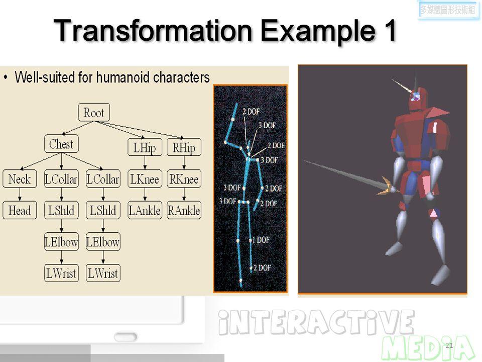 21 Transformation Example 1