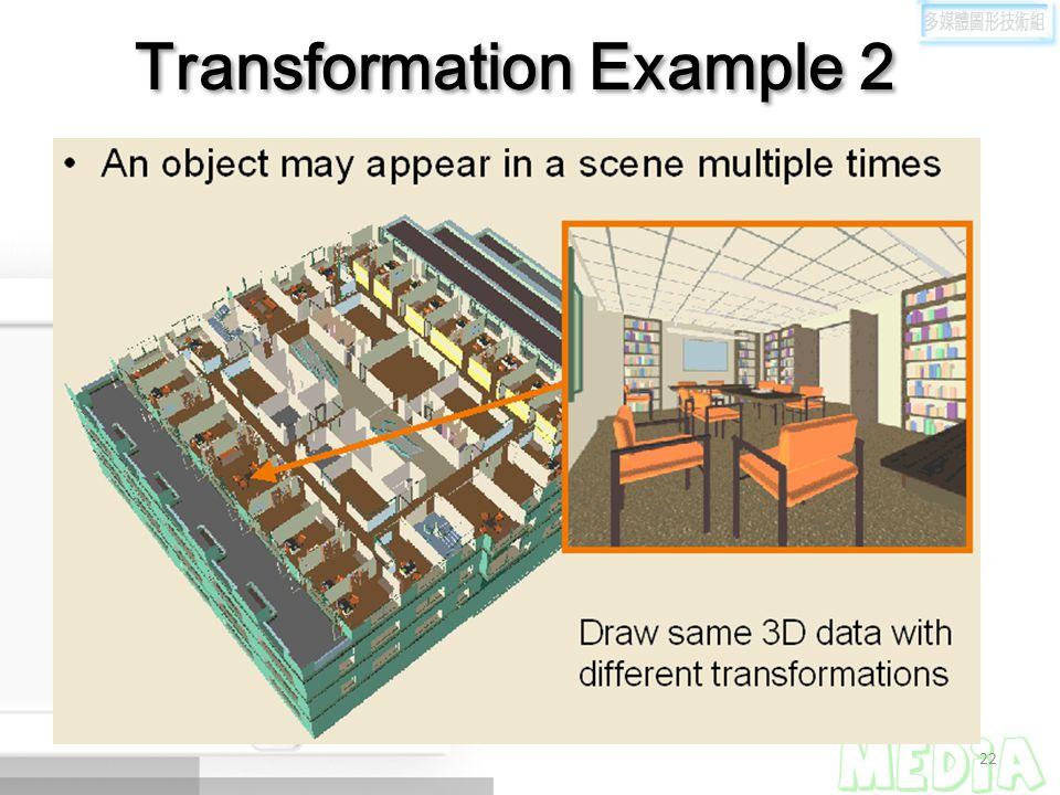 22 Transformation Example 2