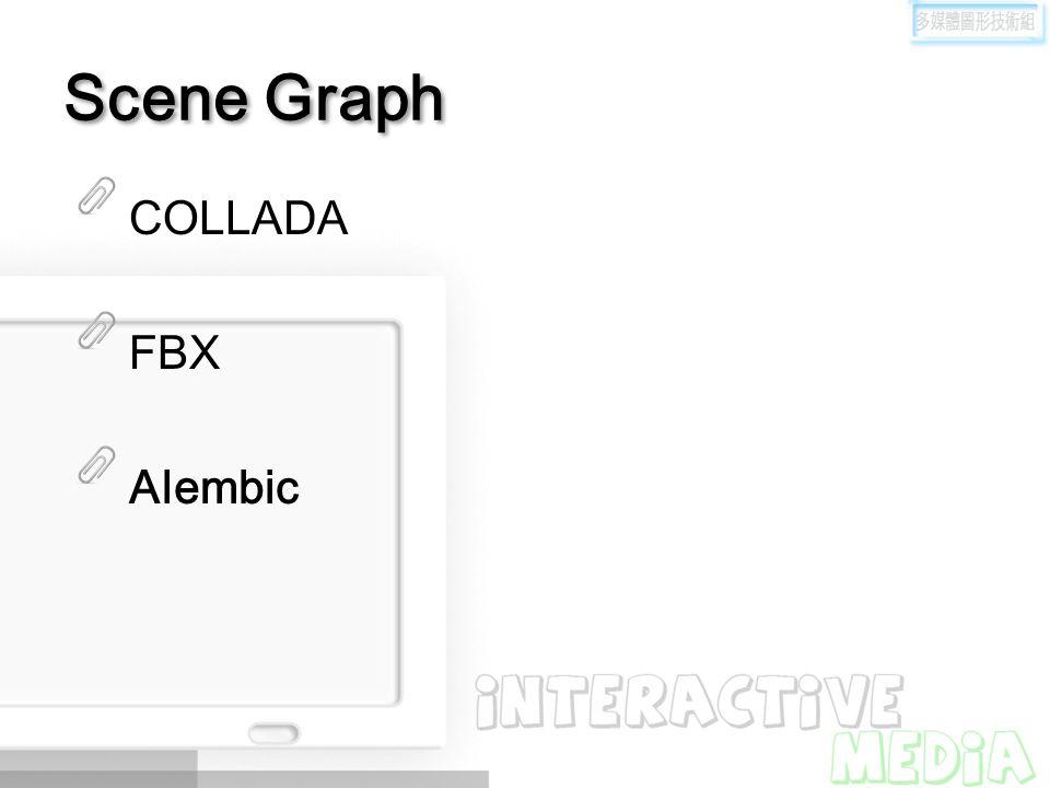 Scene Graph COLLADA FBX Alembic