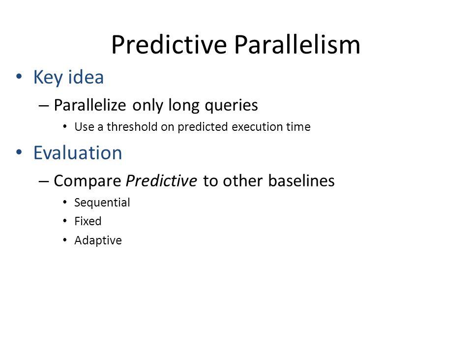 Predictive Parallelism