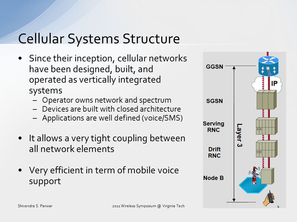 How did the current cellular network scale with demand.