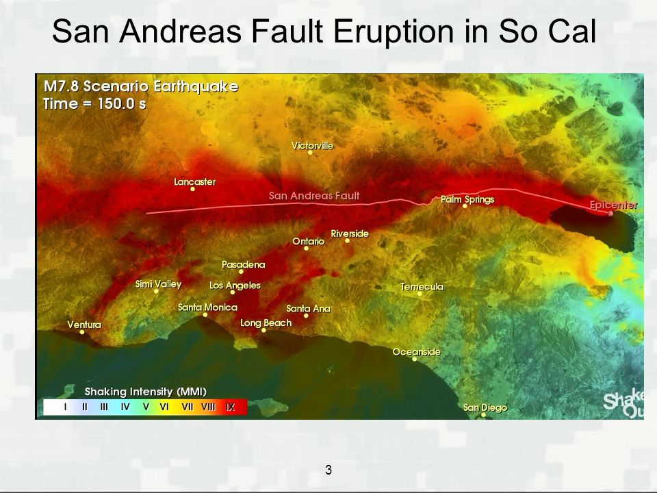 San Andreas Fault Eruption in So Cal  Southern California Catastrophic Earthquake 3