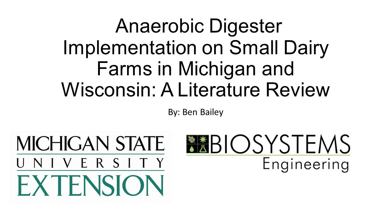 Small digester design and small digester case studies results M.